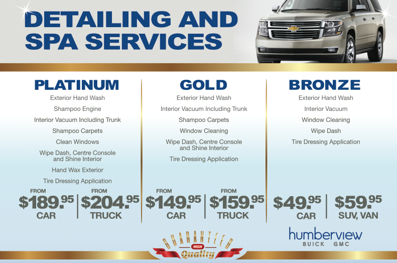 Car Detailing Services In Toronto Humberview Chevrolet