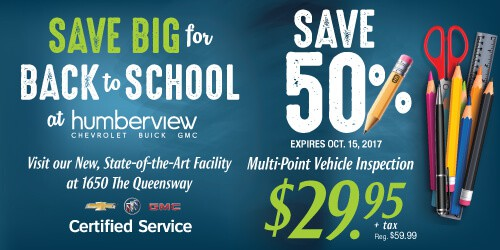 Back to School Service Special—Save 50% on Vehicle Inspection