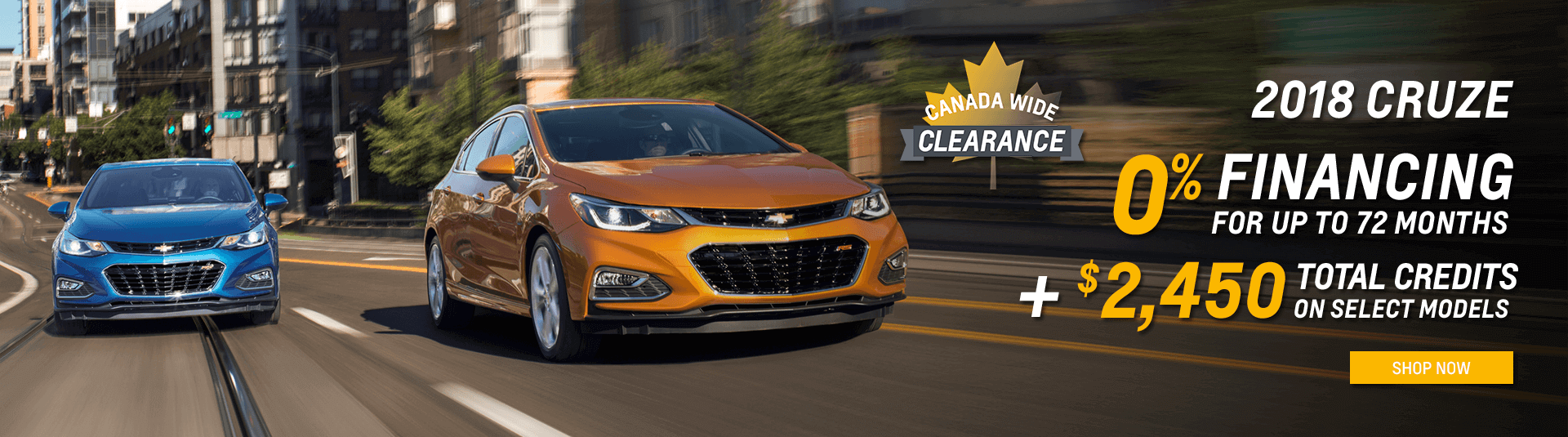 Chevrolet Cruze Canada Wide Clearance in Toronto