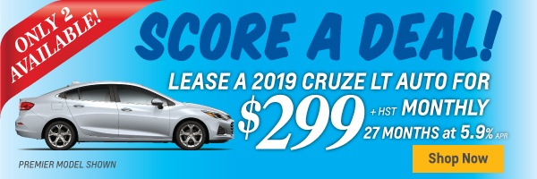 Exclusive 2019 Cruze Lease Offer in Toronto