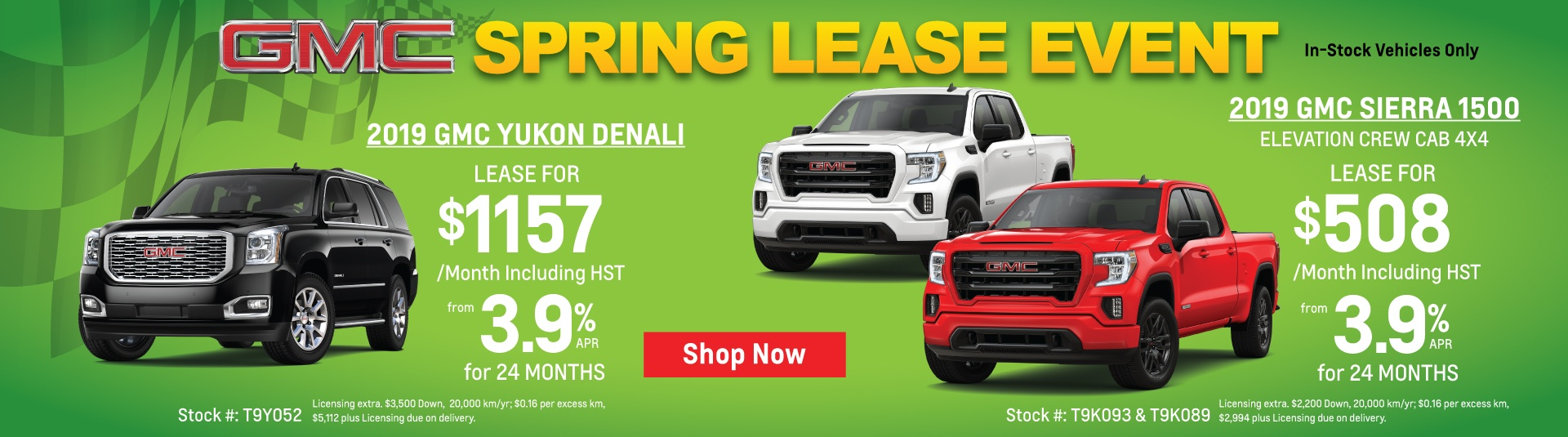 2019 GMC Yukon and GMC Sierra Special Lease Offers in Toronto