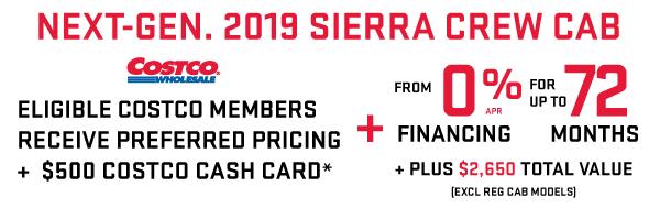 2019 GMC Sierra Costco Member Offer in Toronto