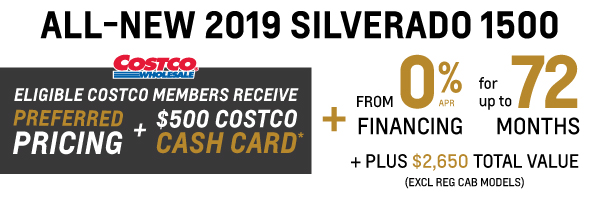 2019 Chevrolet Silverado Costco Member Offer in Toronto