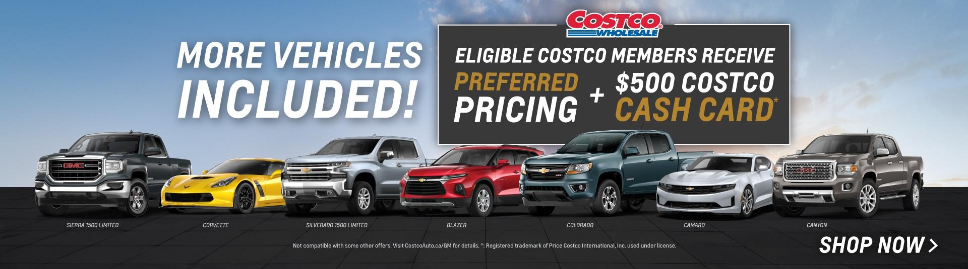 Chevrolet & GMC Costco Preferred Pricing