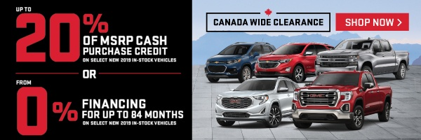 Humberview Chevrolet and GMC Clearance Offer in Etobicoke