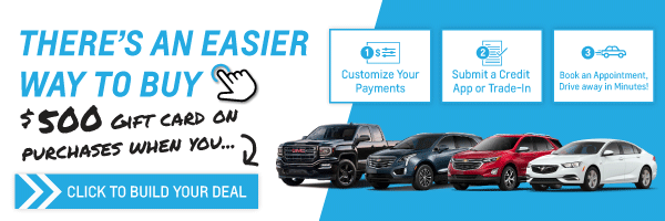 Shop Chevrolet, Buick or GMC Vehicles Online & Get $500 Gift Card