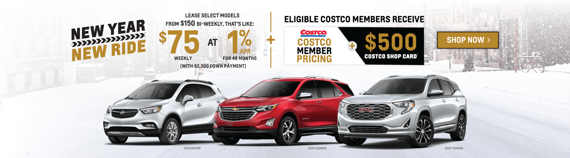 Chevrolet, Buick, GMC SUV New Year, New Ride Sale Event in Etobicoke
