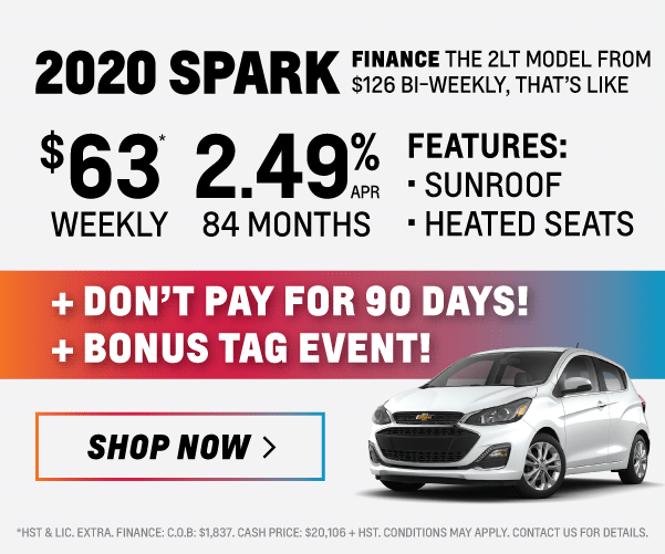 2020 Chevrolet Spark Finance and Lease Offer in Toronto