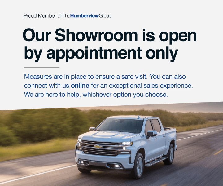 Humberview Chevrolet Buick GMC - Showroom Open By Appointment Only