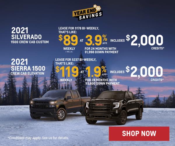 Chevrolet Silverado and GMC Sierra Offers in Etobicoke