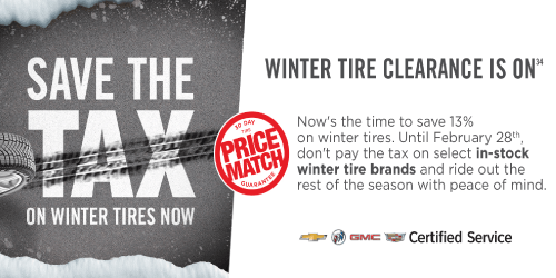 Save The Tax On Winter Tires Now