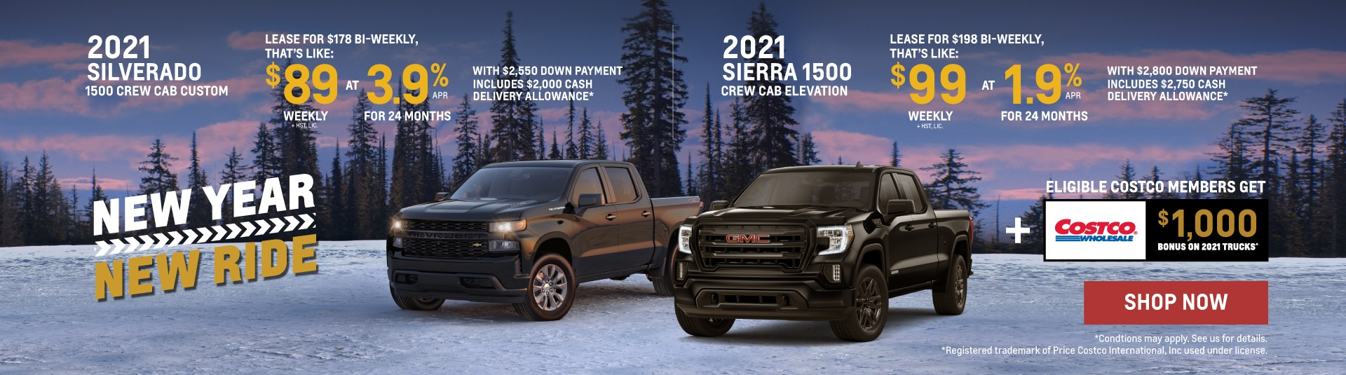 2021 Chevrolet Silverado and 2021 GMC Sierra Offers in Etobicoke