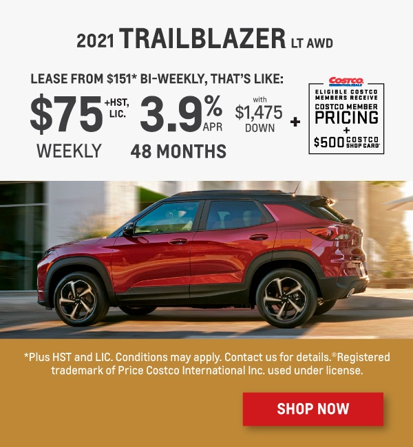 2021 Chevrolet Trailblazer Offer in Etobicoke
