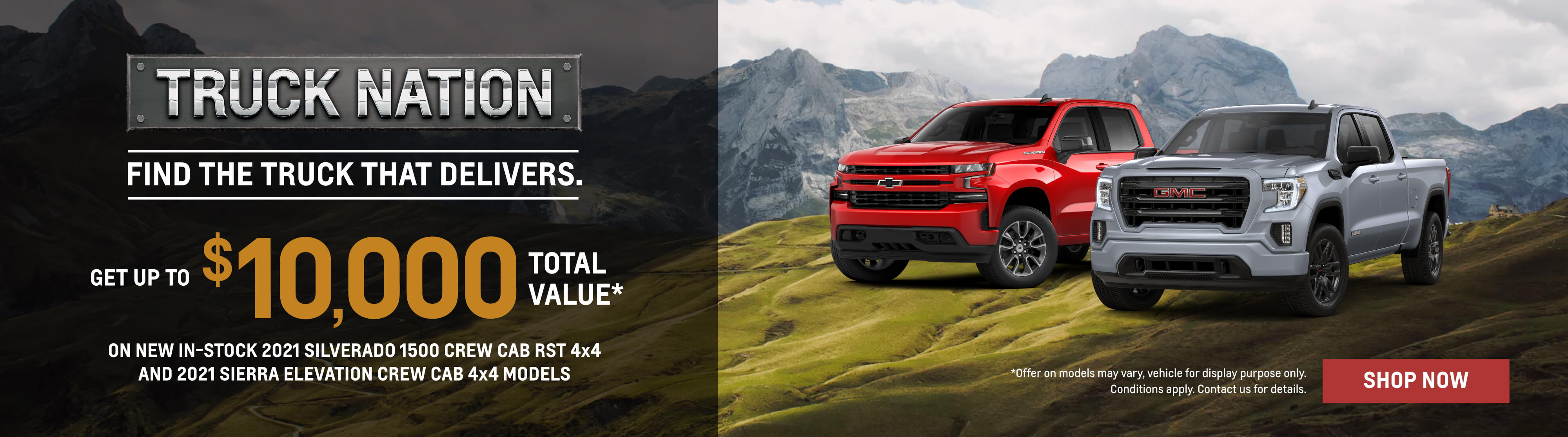2021 Chevrolet Silverado and 2021 GMC Sierra Offers in Etobicoke