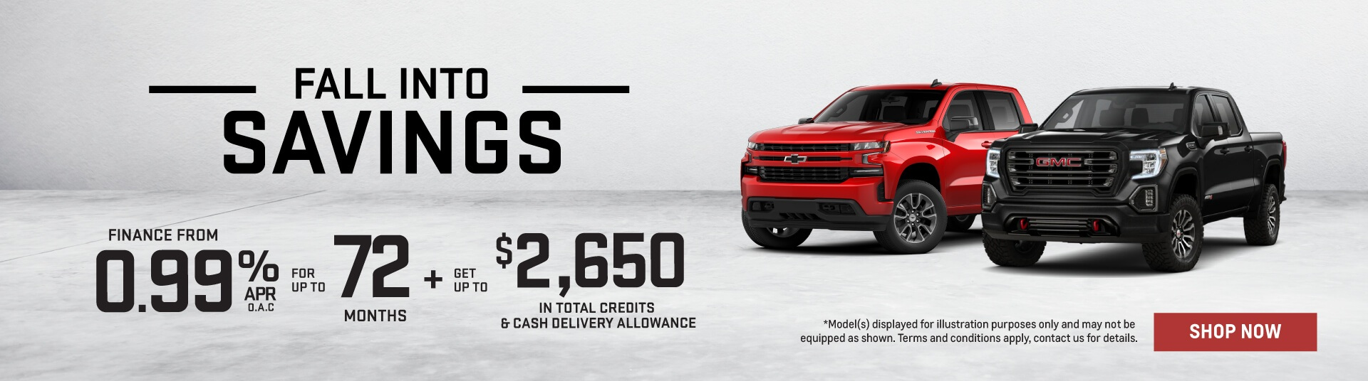 Fall Into Savings GM Trucks - Humberview GM